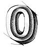 Vector clipart: sketch numerals