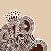 Vektor Cliparts: abstrakter Henna Doodle Design Element