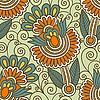 Vector clipart: seamless floral ornamental design