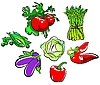 Vector clipart: vegetables collection