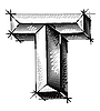 Vector clipart: sketch of initial letters