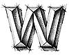 Vektor Cliparts: Skizze des Buchstaben W