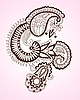Vector clipart: Henna Flower Design