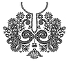 Vector clipart: Neckline embroidery design