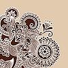 Рисованной абстрактный Хна Doodle дизайн Вектор