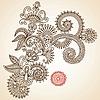 Kunstvolles Blumen-Design | Stock Vektrografik