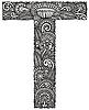 ornamentaler Buchstabe T