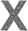 Векторный клипарт: декоративная буквица X
