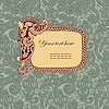 Vektor Cliparts: Vintage-Rahmen in floral background
