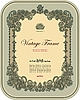 Vector clipart: Vintage ornamental frame