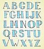 doodle handgezeichneten Skizze Alphabet
