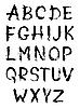Vector clipart: Hand-written alphabet