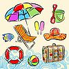 Vector clipart: Summer beach set
