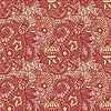 Vector clipart: seamless flower paisley pattern