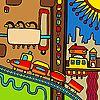 Векторный клипарт: Город абстрактная композиция