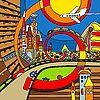 Vektor Cliparts: Hand zeichnen abstrakte Stadt Zusammensetzung