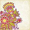 Vektor Cliparts: verziertes Blumenmuster
