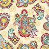 Векторный клипарт: цветочный цветных декоративных бесшовных шаблон