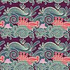 seamless wavy pattern with fish