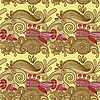 Vector clipart: seamless pattern with fish and wive