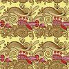 Vektor Cliparts: Nahtlose Muster mit Fischen und wive