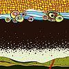 Vektor Cliparts: abstrakte Hand zeichnen Hintergrund