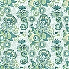 Vector clipart: seamless artistic flower pattern