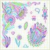 Векторный клипарт: стороны рисовать каракули Цветок Элемент вектора