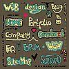 Vector clipart: Set of lettering web design element