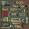 Vektor Cliparts: Set von Hand zeichnen Schriftzug Web-Design-Element