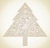Stylized Christmas tree | Stock Vector Graphics