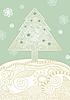 Weihnachtskarte mit stilisierter Tanne | Stock Vektrografik