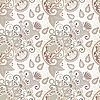 Vector clipart: seamless flower paisley design background