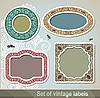 Vector clipart: vintage labels and frames