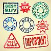 Set of grunge rubber stamps sales