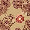 Векторный клипарт: бесшовных цветок Пейсли дизайн