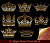 Vector clipart: set of heraldic crowns