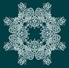 Vector clipart: ornate snowflake