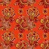 Векторный клипарт: бесшовный цветочный пейсли дизайн
