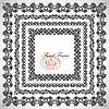 Векторный клипарт: 4 цветочный старинных конструкция рамы