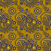 Nahtloser floraler Paisley-Hintergrund | Stock Vektrografik