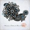 Vector clipart: Hand draw line art ornate flower design