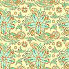 Vector clipart: seamless flower paisley design background