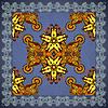 Vector clipart: Traditional Ornamental Floral Paisley Bandana