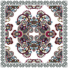 Traditional Ornamental Floral Paisley Bandana  | Stock Vector Graphics