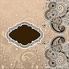 Vector clipart: ornamental template with floral background