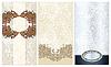 three ornamental floral pattern