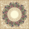 Vector clipart: ornate floral carpet background