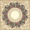 Vektor Cliparts: kunstvollen Blumenteppich Hintergrund