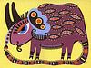 Vektor Cliparts: Fantasy-Tier. Ukrainischen traditionellen Malerei